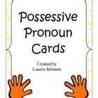 These possessive pronoun cards can be cut, laminated, and used in centers to help student better understand the concept.  You can also give each st...