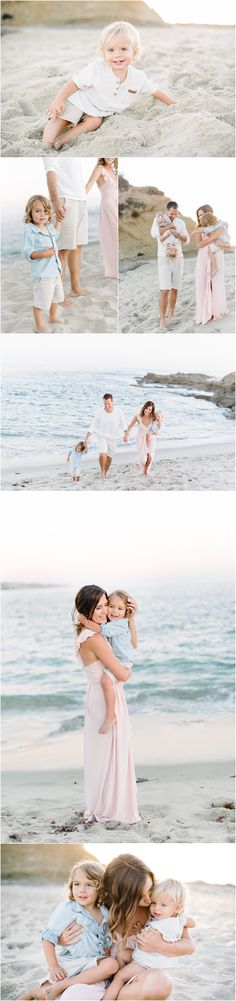 Popp Family {Laguna Beach and OC family Photographer} Neutral Family Photos, Spring Family Pictures, Family Beach Portraits, Family Beach Pictures, Beach Photos, Family Pics, Family Photo Outfits, Picture Outfits, Laguna Beach