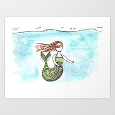 Faceless Mermaid Art Print by Melissa DiPeri - $18.00