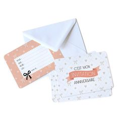 Cartes invitation anniversaire fille