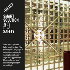 Glassblock's can be bulletproof #safetyfirst #glassblocks #glazenbouwstenen #glasdallen #architecture #design #seves #glassblock #bouwglas #bouwglasgesman #glasblok