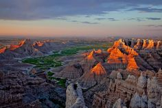 Happy birthday, Badlands National Park in South Dakota. First established as a national monument in 1939, Badlands was redesignated as a national park in 1978. The park's 244,000 acres protect an expanse of mixed-grass prairie where bison, bighorn sheep, prairie dogs, and black-footed ferrets live today.