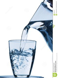 Glass With Water And Jug Royalty Free Stock Photography - Image ...