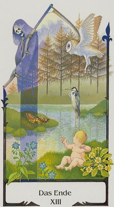 The Close (Death) - Tarot of the Old Path - If you love Tarot, visit me at www.WhiteRabbitTarot.com