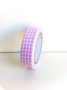 Fabric tape Vichy rosa - Shop We Love Parties Bcn