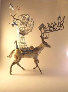 Deer with Blue Birds : ため息が出るほど美しい、カナダの彫刻家Ellen ...