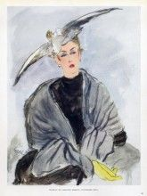 Caroline Reboux (Hat) & Weil (Fur) 1948 Eric (Carl Erickson)