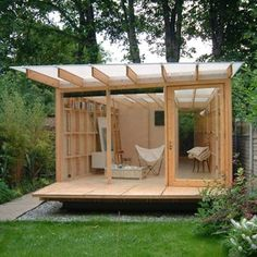 backyard ideas with sheds. Sunny Summerhouse By UK Architects Ullmayer Sylvester Would Be So Refreshing It Is Built Of Pine And Functions As An Artist Studio Garden Shed Backyard Ideas With Sheds