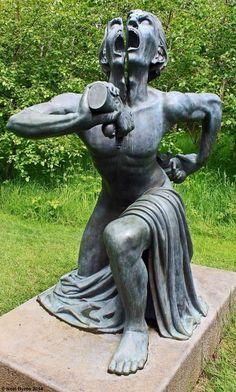 split man sculpture, Ireland : creepy