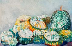 Chris Lanooy (Dutch, Stilleven met pompoenen [Still life with squashes]. Oil on canvas, x 61 cm. Food Painting, Squashes, Printmaking, Still Life, Oil On Canvas, Drawings, Dutch, Paintings, Fall