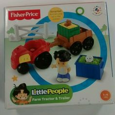 Fisher Price Little People Farm Tractor and Trailer Play Set NEW #FisherPrice
