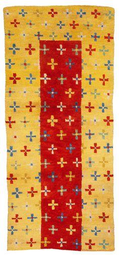 Tibetan rugs at Cologne Fine Art 2014, 'Tie-dye-Crosses' Rug, circa 1900, 180 x 80 cm
