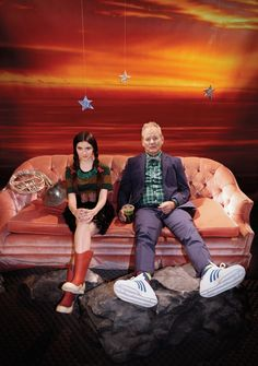 """""""Wes's World. On the release of Wes Anderson's Moonrise Kingdom, Bill Murray and Kara Hayward go to outer space while the director discusses his universe."""" Harper's Bazaar, June issue. Photographed in New York City."""