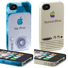 Retro Apple Macintosh computer iPhone cases $45. We miss the IIE!