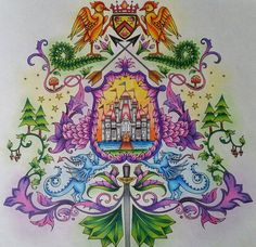 Coat of arms enchanted forest by Letícia Cordeiro