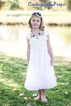 Vintage White Ruffle Lace Girls DRESS Ruffle by CoutureBabyProps