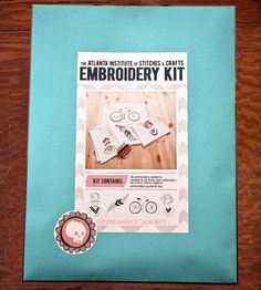 Scoutmob Embroidery Kit by Stitches and Crafts  on Scoutmob Shoppe