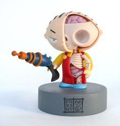 [Stewie #Anatomical Sculpture by Jason #Freeny]