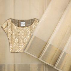55 super ideas for dress diy cotton patterns Sari Blouse Designs, Saree Blouse Patterns, Fancy Blouse Designs, Kerala Saree, Ethnic Sarees, Indian Sarees, Soft Silk Sarees, Cotton Saree, Saree Photoshoot