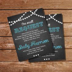 Bring a Book Insert Cards  Boy Baby Shower Book Insert by SunshineParties on #Etsy.....love these! #ChalkboardBringABook #ChalkboardBookInsert