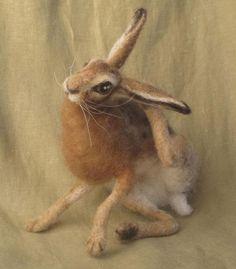 ***This item is MADE TO ORDER.  Please allow 8-10 weeks for me to make your felted animal (the demand for my work has been overwhelming)  You may