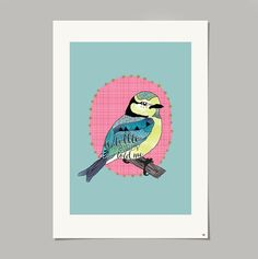 The Animal Kingdom collection is inspired by the little friends that can be found in my garden. A Little Birdy Told Me is a beautifully hand illustrated and digitally coloured Blue Tit print that would make an ideal gift for any bird lover.A3 in size and printed on Matte Heavyweight paper 167gsm.I will post your print in an envelope with a stiff board to avoid any folds or creases. The prints also come in a plastic slip.Signed and dated on the back.Designed and printed...