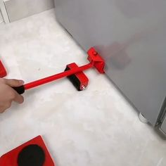 Put the lifter under to furniture and lift it up(can lift your furniture to 2 high), then let 4 pcs rollers into the 4 corners. It can bear 150 so you can easily move furniture or heavy objects. Moving Furniture, Furniture Legs, Furniture Hardware, Diy Home Cleaning, Diy Home Repair, Moving House, Home Hacks, Cool Tools, Cool Things To Buy