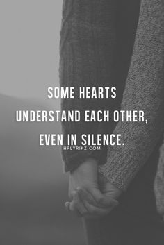 Even in silence