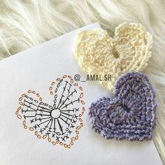Corazon tejido a crochet