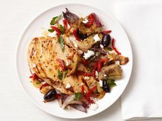 Meld flavorful ingredients like frozen artichoke hearts, kalamata olives and salty feta together for a hearty chicken main.