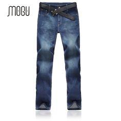 31.50$  Know more  - New Arrival Men's Autumn Jeans Plus Size 46 48 Fashion Business Classic Long Pants For Man Blue Solid Mens Jeans Mid Waist