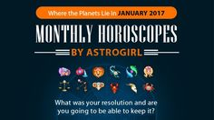 #AQUARIUS #MonthlyHoroscopes: 2017 starts off with a cosmic bang and lots of wonderful #planetary play with the Moon and lovely Venus in your sign on the 1st. Your emotions will be running high regardless of the Moon with a meeting of passionate Mars and dreamy Neptune. You will definitely feel as if 2017 has potential at the start of January!