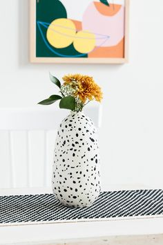 Speckled Tall Costa Vase By Franca