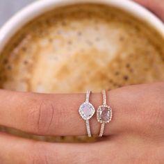 14kt gold floating sliced diamond ring – Luna Skye by Samantha Conn
