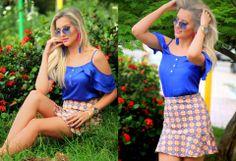 Alana Santos Blogger #blusa #croppes #babados #godê