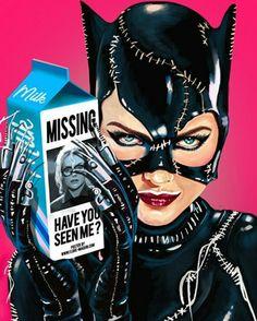"Batman Returns ""Catwoman"" I don't know about you, Miss Kitty, but I feel so much... yummier. #BatmanReturns #Catwoman #DcVillian #DcComics #DC #Gotham #GothamGirls #BatShitCrazy #ArkhamAsylum #Lunatic #Insane #KillerFashion #Meow #MichellePfeiffer #TimBurton"