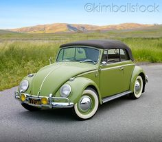 My. Car. 1965 VW convertible bug :). Love that avocado green...