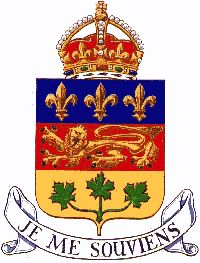 Quebec Coat of Arms Samuel De Champlain, Family Crest Symbols, Quebec French, French Symbols, Montreal Qc, Canada Eh, Sea To Shining Sea, Canadian History, True North