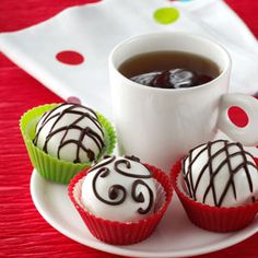 Cranberry Orange Truffles Recipe from Taste of Home -- shared by TerryAnn Moore of Vineland, New Jersey