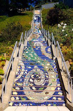 san francisco mosaic stairs