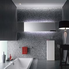 Kleines Bad Mosaik Fliesen Braun Creme Moderner Duschkopf | Bathroom |  Pinterest | Interiors, Walls And House