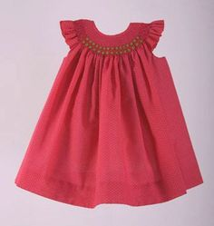 Lovely and cute ad Girls Smocked Dresses, Baby Girl Dresses, Little Dresses, Cute Dresses, Girls Occasion Dresses, Baby Dress Patterns, Girls Christmas Dresses, Frock Design, Smock Dress