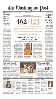 The Washington Post for July 1, 2015, via Today's Front Pages | Newseum #newsdesign #newspapers