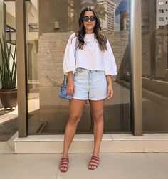 Zara, Short Jeans, Close Up, Jean Shorts, White Shorts, 1, Natural, Instagram, Women