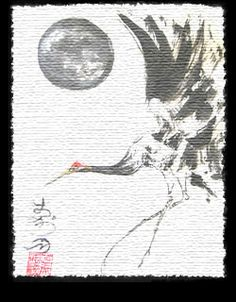 Japanese Crane Art   What is Sumi-e ?