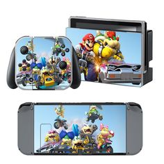 Mario kart Nintendo switch wrap for Nintendo switch console. Choose your favorite design from a huge range of Best switch wraps collection for Nintendo Switch Console. Buy Nintendo Switch, Nintendo Switch Accessories, Xbox One Skin, Console Styling, Ps4 Skins, Games To Play, Playstation, Lunch Box, Design