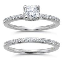1 ct. t.w. Diamond Bridal Ring Set (H-I, SI2)...hmm...may have found the one!