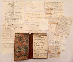 Ephemera Handwritten Diary Estate Inventory Julian Alden Weir Artist WOW   eBay