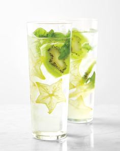 Along with the two lead players in this Starfruit Kiwi Smash, green tea, grape juice, seltzer, and vodka also flavor this sweet-tart libation. Or hold the liquor; it's just as delicious booze-free.