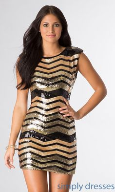 As U Wish Short Sleeveless Sequin Dress - SimplyDresses....... I like!